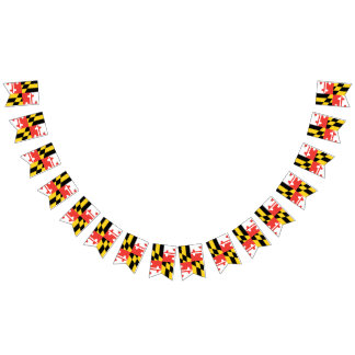 Maryland Flag Party Bunting Banner
