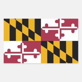 Maryland Flag Rectangular Sticker