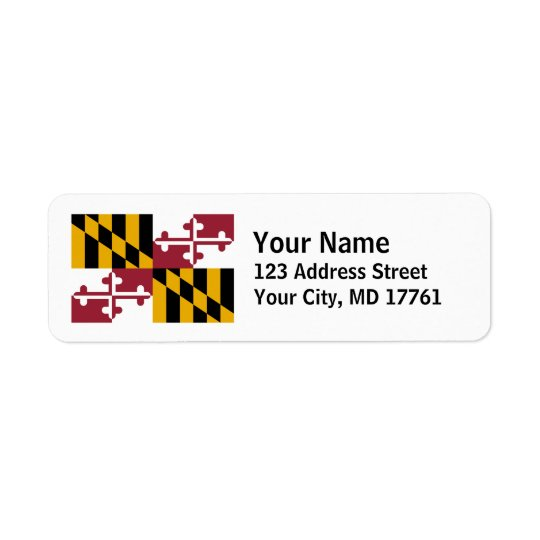 Maryland Flag Return Address Labels