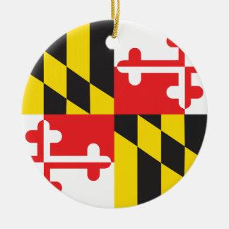 MARYLAND FLAG ROUND CERAMIC DECORATION