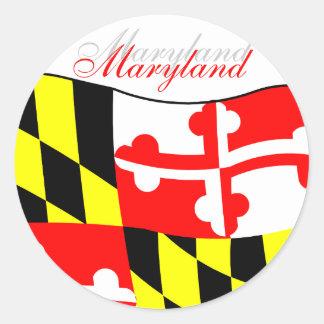 Maryland Flag Round Sticker