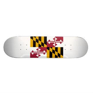 Maryland Flag Custom Skateboard