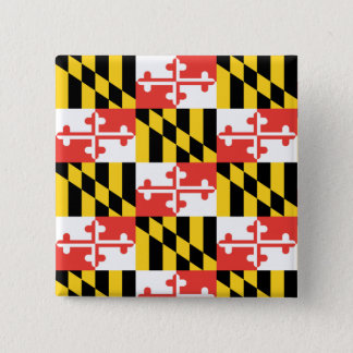 Maryland Flag Square Button