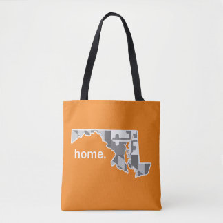 Maryland Flag/State home tote - orange