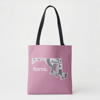Maryland Flag/State home tote - pink
