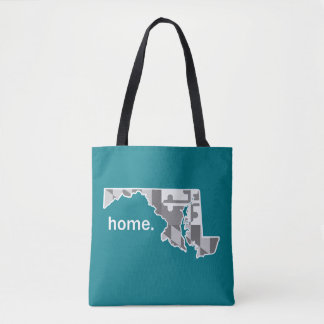 Maryland Flag/State home tote - teal