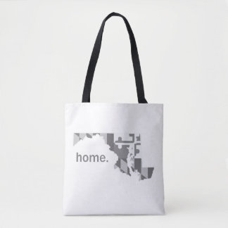 Maryland Flag/State home tote - white