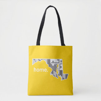 Maryland Flag/State home tote - yellow