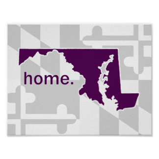 Maryland Flag/State pop of color - plum Poster