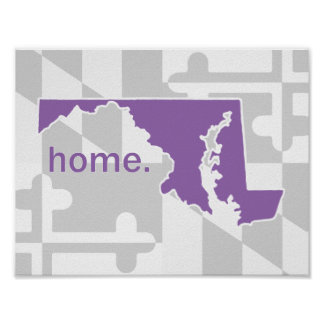 Maryland Flag/State pop of color - purple Poster