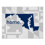 Maryland Flag/State pop of colour - navy blue Poster