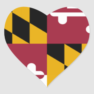 Maryland Flag Heart Stickers