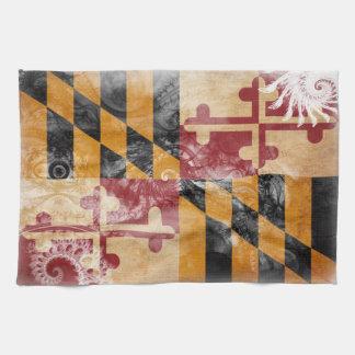 Maryland Flag Tea Towel