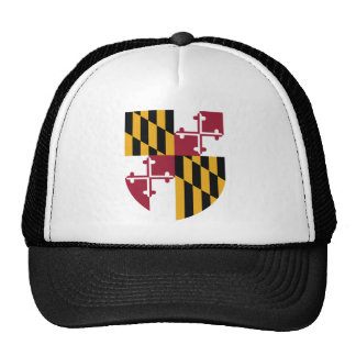 Maryland Flag Theme 00 Mesh Hats
