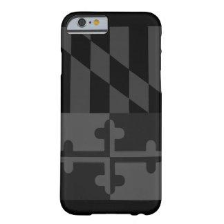 Maryland Flag (vertical) phone case - black