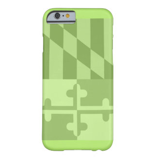 Maryland Flag (vertical) phone case - lime green