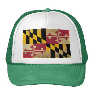 Maryland Flag VINTAGE png Hats