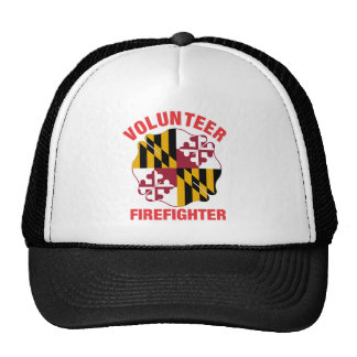 Maryland Flag Volunteer Firefighter Cross Cap