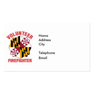 Maryland Flag Volunteer Firefighter Cross Pack Of Standard Business Cards