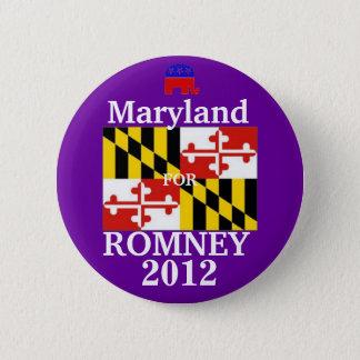 Maryland for Romney 2012 6 Cm Round Badge