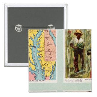 Maryland, Georgia, Illinois, Pennsylvania 15 Cm Square Badge