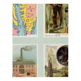Maryland, Georgia, Illinois, Pennsylvania Postcard