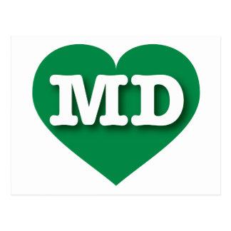 Maryland green heart - Big Love Postcard