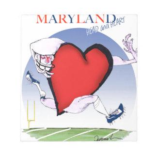 maryland head heart, tony fernandes notepad