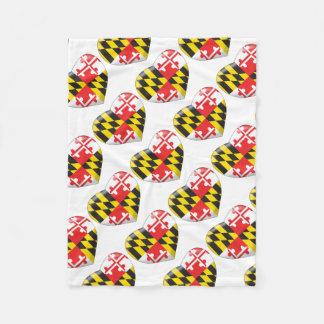 Maryland Heart Fleece Blanket