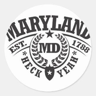 Maryland Heck Yeah Est 1788 Round Stickers