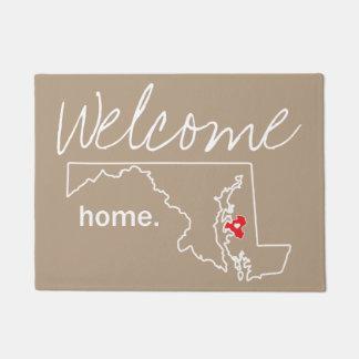Maryland Home County Door Mat - Talbot co.