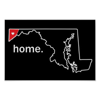 Maryland Home County poster - Garrett Co.