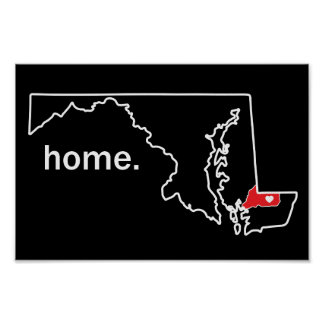 Maryland Home County poster - Wicomico Co.
