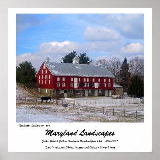 Maryland horse farm poster