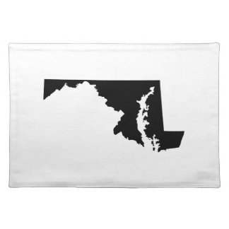 Maryland in Black and White Placemat