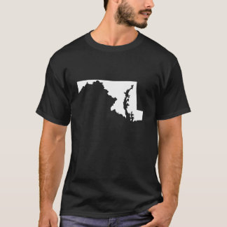 Maryland in White and Black T-Shirt