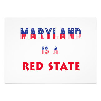 Maryland is a Red State Custom Invitations
