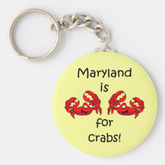 Maryland is for Crabs Key Ring