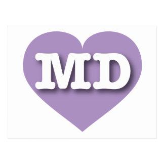 Maryland lavender heart - Big Love Postcard
