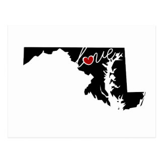 Maryland Love!  Gifts for MD Lovers Post Cards