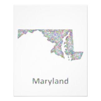 Maryland map 11.5 cm x 14 cm flyer