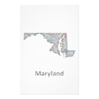 Maryland map 14 cm x 21.5 cm flyer