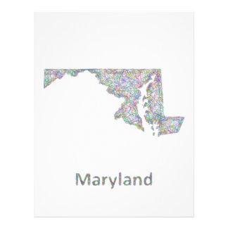 Maryland map 21.5 cm x 28 cm flyer