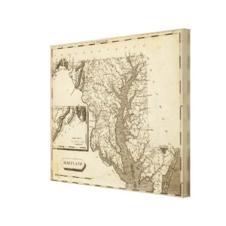 Maryland Map by Arrowsmith Canvas Print