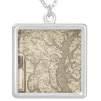 Maryland Map by Arrowsmith Silver Plated Necklace