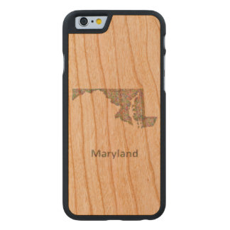 Maryland map carved® cherry iPhone 6 slim case