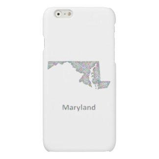 Maryland map iPhone 6 plus case