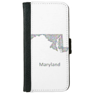Maryland map iPhone 6 wallet case