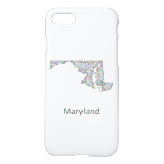 Maryland map iPhone 7 case