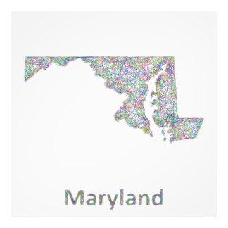 Maryland map photo print